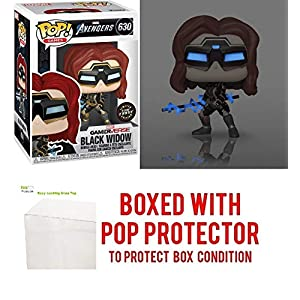 Black Widow Glow in The Dark Chase Edition #630 Pop Games: Avengers Gamerverse Vinyl Figure (Bundled with EcoTEK Plastic Protector to Protect Display Box)