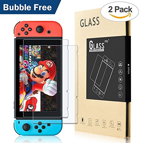 BENOKER Screen Protector for Nintendo Switch, Tempered Glass Screen Protector of Nintendo Switch Accessories, Case-friendly for Nintendo Switch Case - 9H, HD, Bubble Free, Anti-Scratch (NS-2 - Contacts Glasses Than Better