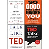 So Good They Can't Ignore You, 10% Happier, Talk Like TED, TED Talks 4 Books Collection Set
