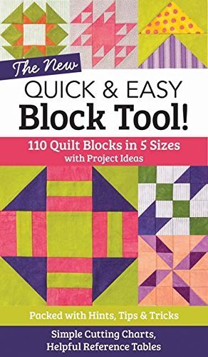 The NEW Quick & Easy Block Tool!: 110 Quilt Blocks in 5 Sizes with Project Ideas - Packed with Hints, Tips & Tricks - Simple Cutting Charts & Helpful Reference - Shopping Ct Mall In
