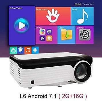 BXCGDICD Proyector Home Pequeño TV Sin Pantalla 4K Teléfono Móvil ...