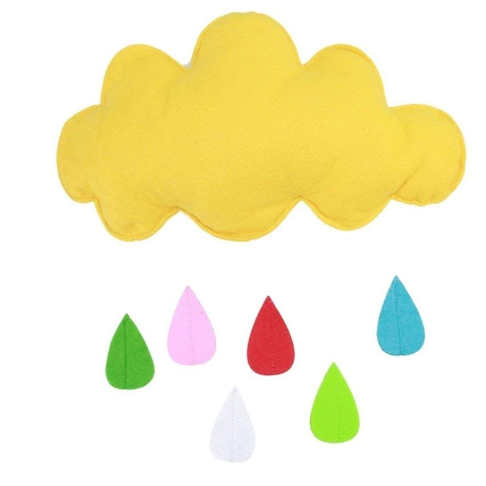 Tracfy Cloud Shape Raindrop Wall Hanging Decor Stickers Crib Bedroom Play Tent Nursery Decorations for Newborn Baby Toddler
