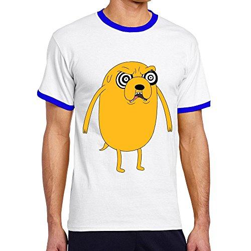 Vansty Gut Grinder Jake Short Sleeves Shirts For Men RoyalBlue Size L