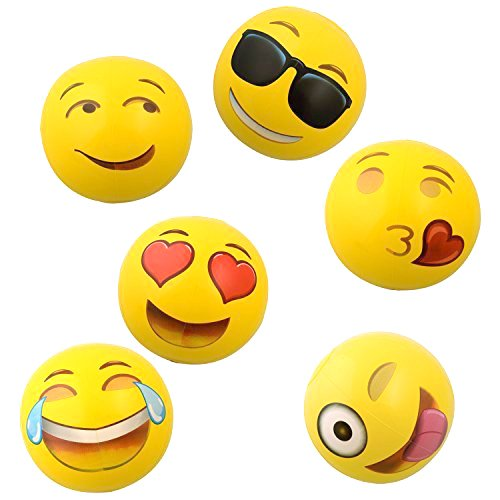 Emoji Faces Beach Ball 18 inches package of 6