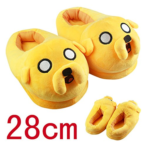 Adventure Time with Finn and Jake Soft Plush Slippers Anime Cosplay Shoes 11Inch (Finn Jake Costume)