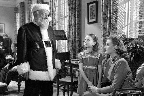 Maureen O'Hara, Edmund Gwenn and Natalie Wood in Miracle on 34th Street 24x36 Poster Silverscreen