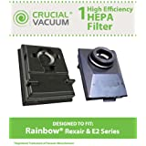 Washable & Reusable HEPA Filters Fit Rainbow E2-Series Vacuums; Compare to Rainbow Part Nos. R12179, R12647B; Designed & Engineered by Think Crucial
