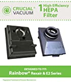 Washable & Reusable HEPA Filters Fit Rainbow E2-Series Vacuums; Compare to Rainbow Part Nos. R12179, R12647B; Designed & Engineered by Crucial Vacuum