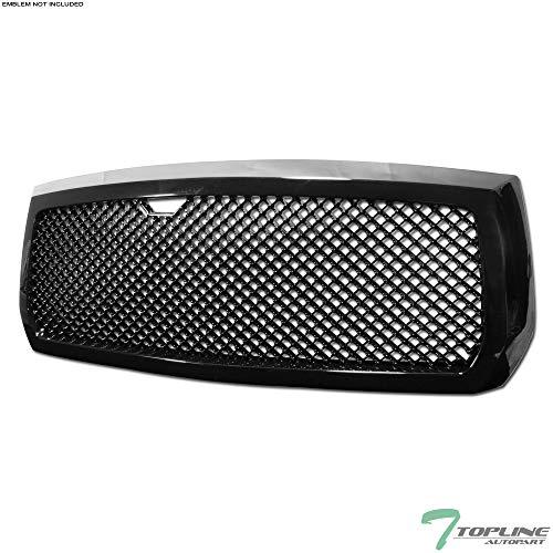 (Topline Autopart Black Mesh Front Hood Bumper Grill Grille ABS For 05-07 Dodge Dakota )