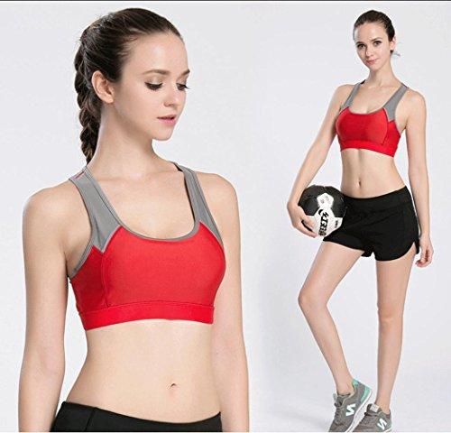 Mujer Bra / Shock / Deportes / Fitness / Deportes Ropa Interior , black , m WATERMELONRED-M