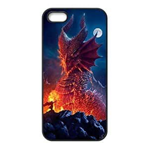 LZHCASE Diy Customized Hard Case Dragon for iPhone 5,5S [Pattern-1]