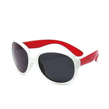 Personalidad Extragrande Gafas de Sol polarizadas Flexibles para niños y niñas con Estuche de protección UV