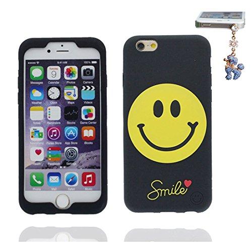 """Apple iPhone 6 Coque, étui iPhone 6s 4.7"""", [ TPU durable flexible 3D Smiley ] iPhone 6 Case 4.7 pouces, anti-chocs, des empreintes digitales, les égratignures et Bouchon anti-poussière"""