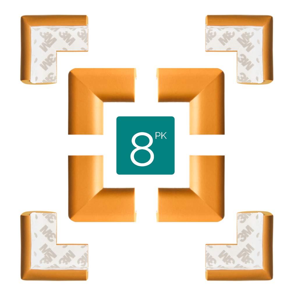 TRITINA Eckenschutz für Kindersicherung, für Tisch und Möbel Ecken, Stoßschutz für Kinder, für Baby Schutz (8 Stück) - Beige Justgreen Mamami-TLA-WD
