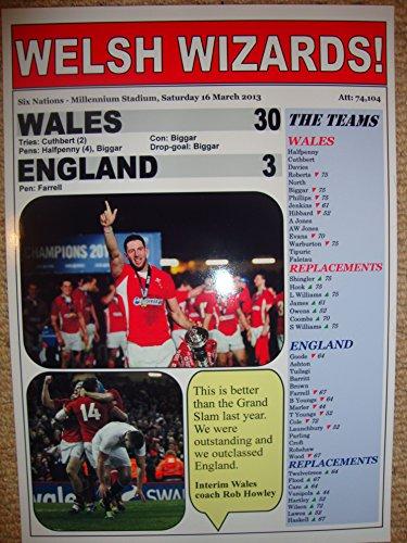 (Wales 30 England 3 - 2013 Six Nations - souvenir print)