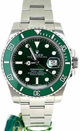 Rolex Submariner Date 40mm Green Dial Mens Watch 116610