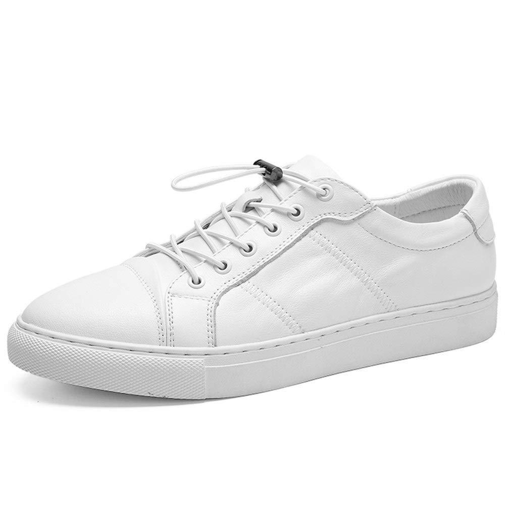 Blanc 38 EU KYS Chaussures de Sport pour Hommes - Chaussures de Sport pour Hommes - Chaussures de Patineur - Chaussures de randonnée décontractées - Dessus - Bas-Cuir (Couleur   Noir, Taille   40 EU)