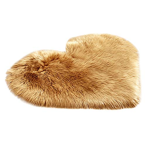 - Hot Sale!DEESEE(TM)Wool Imitation Sheepskin Rugs Faux Fur Non Slip Bedroom Shaggy Carpet Mats 40 x 50 cm (A)