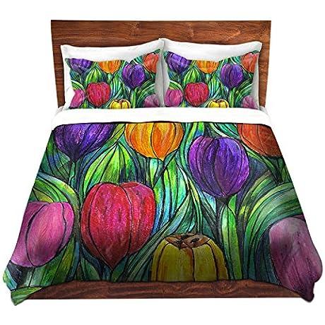 DiaNoche Designs Microfiber Duvet Covers Tulip Patch