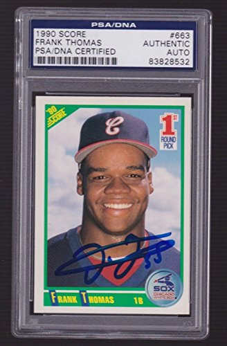 1990 Score Mlb Rookie Card - FRANK THOMAS Signed Auto 1990 Score Rookie/slabbed 83828532 - PSA/DNA Certified - Baseball Slabbed Autographed Cards