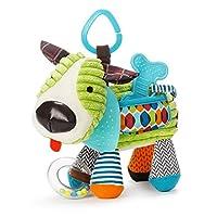 Skip Hop Bandana Buddies Baby Activity and Teething Toy with Multi-Sensory Rattle...