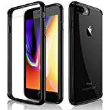 iPhone 8 Plus Case, iPhone 7 Plus Case, Clear Slim Crystal Hybrid Anti-Scratch Transparent Hard Back Cover Soft Flexible Black Bumper Shockproof Cases for Apple iPhone 8 plus & iPhone 7 plus (2017)