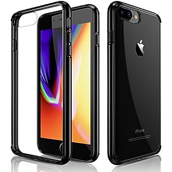 iPhone 7 Plus Case, iPhone 8 Plus Case, Clear Slim Crystal Hybrid Anti-Scratch Transparent Hard Back Cover Soft Flexible Black Bumper Shockproof Cases for Apple iPhone 7 plus & iPhone 8 plus (2017)