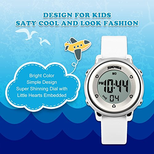 Kids Digital Sport Waterproof Watch for Girls Boys, Kid Sports Outdoor LED Electrical Watches with Luminous Alarm Stopwatch Child Wristwatch ...