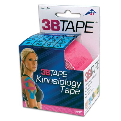 3B Scientific S-3BTPIN Pink Cotton Rayon Fiber Kinesiology Tape, 16′ Length x 2″ Width, Health Care Stuffs