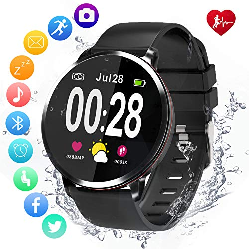 Amerzam Smart Watch for Android iOS Phones,Activity Fitness Tracker