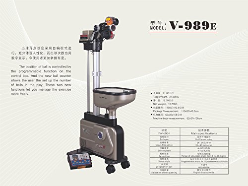 Table Tennis Training Robot V989E by Y&T Table Tennis
