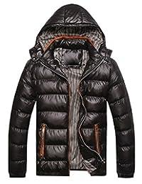 Winwinus Mens Warm Puffer Thickened Hood Winter Stylish Wadded Jacket