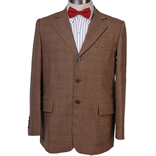 Wolfbar 11th Dr Pinstripe Blazer Jacket Coat Halloween Cosplay Costume Male -