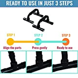 Push Up Bars - Home Workout Equipment Pushup Handle with Cushioned Foam Grip and Non-Slip Sturdy Structure - The Push Up Handles for Floor are Great for Strength Workouts - Push Up Bars for Men Women