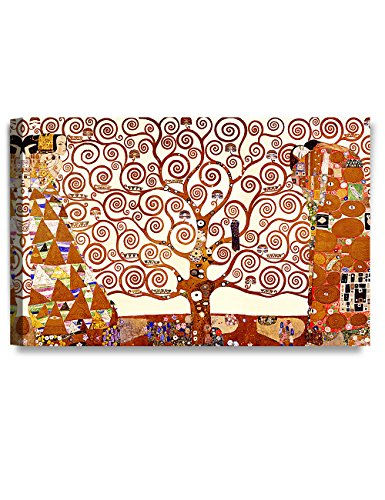 DECORARTS The Tree of Life by Gustav Klimt (Triptych). Classic Art Giclee Prints canvas art for wall decor. 30x20x1.5 (Canvas Prints Triptych)