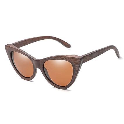 Gafas sol Madera de bambú del Ojo de Gato de Moda de Las ...