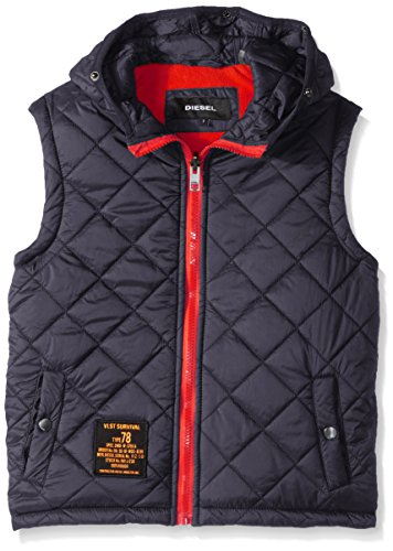 Diesel Big Boys' Outerwear Jacket (More Styles Available), Systems-DS10-Black/Charcoal, 10/12 by Diesel (Image #4)