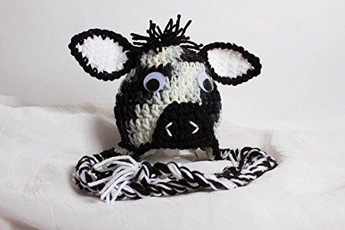 Crochet Zebra Hat