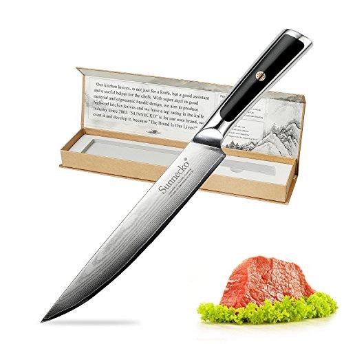 Fillet Knife - Sunnecko 8inch Pro Boning Carving Knife Damascus Steel with Ergonomic ()