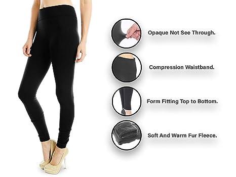 3dcde99038e43 Energi Full Length Leggings Fleece or Thermal Faux Fur Lining at Amazon  Women's Clothing store: Leggings Pants