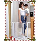 Cumbor Auto Close Safety Baby Gate, Easy Open Extra Tall Thru Gate