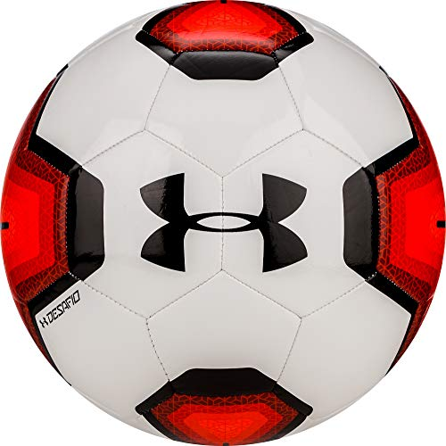 Under Armour DESAFIO 395 Soccer Ball, Size 4, Red/Black