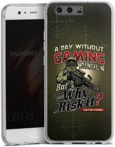 DeinDesign Huawei P10 Plus Carcasa Case Funda Móvil Gaming Alemán ...