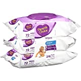 quilted baby wipes - Parent's Choice Sensitive Wipes, 216 sheets (Pack of 3)