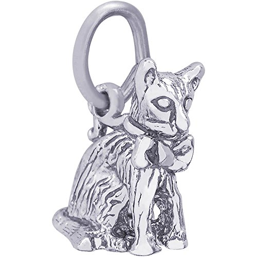 - Rembrandt Charms Cat Charm, Sterling Silver