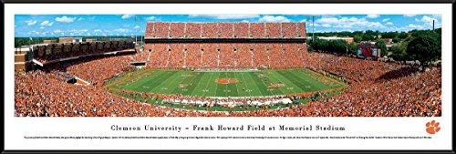 Clemson Football - 50 Yard - Blakeway Panoramas College Sports Posters with Standard Frame