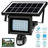 NOPTEG 720P HD Solar IP Camera CCTV Security Camera DVR Recorder PIR Motion Detection With 40 IR LEDS Solar Floodlight Street Lamp