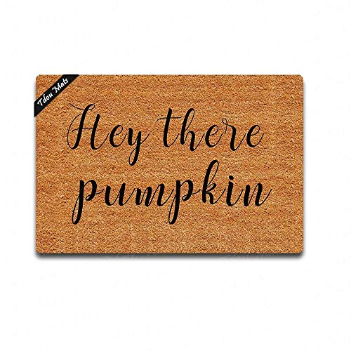 Tdou Personality Doormat Hey There Pumpkin Doormat Custom Home Living Decor Housewares Rugs and Mats State Indoor Gift Ideas 23.6 by 15.7 Inch