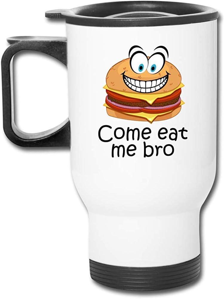 Come At Me Bro Taza de viaje de acero inoxidable Taza termo de café