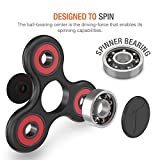 Trianium Fidget Spinner [Tripple Ranger] Prime Stress Reducer Toy for Kids, Students, Adult [Premium Hybrid Ceramic] [Easy Flick + Spin] Single/both Hands Finger Toys For ADHD,Anxiety,Autism,Boredom